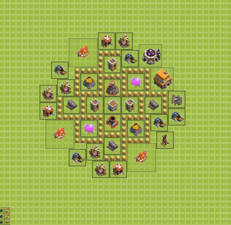 изображение первой базы clash of clans