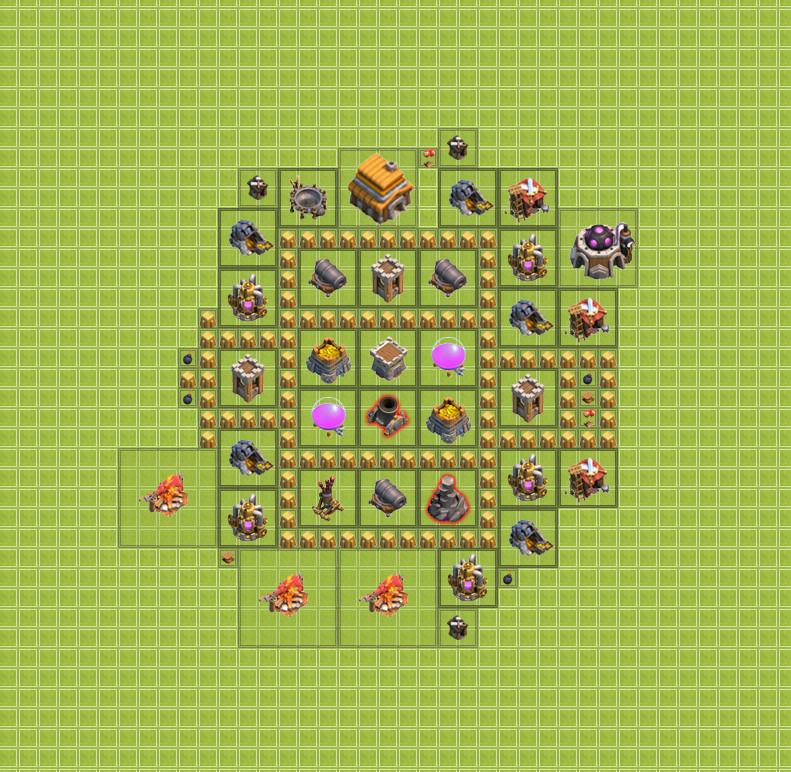 изображение второй базы clash of clans