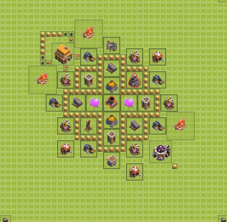 изображение третьей базы clash of clans