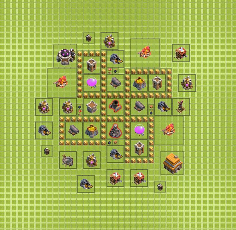 изображение четвертой базы clash of clans