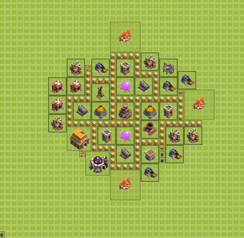 изображение пятой базы clash of clans